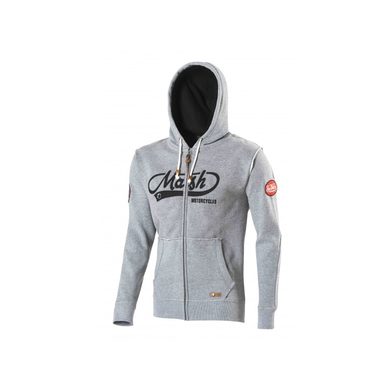 achat sweat a capuche zippe mash von dutch gris à Narrosse Dax | IMS 40