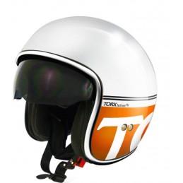 casque torx harry blanc orange